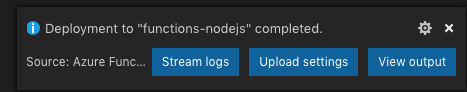 Node.js Azure Functions With VS Code